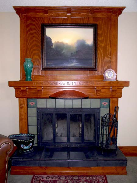 Craftsman fireplace mantel ideas homesfeed for Craftsman frame