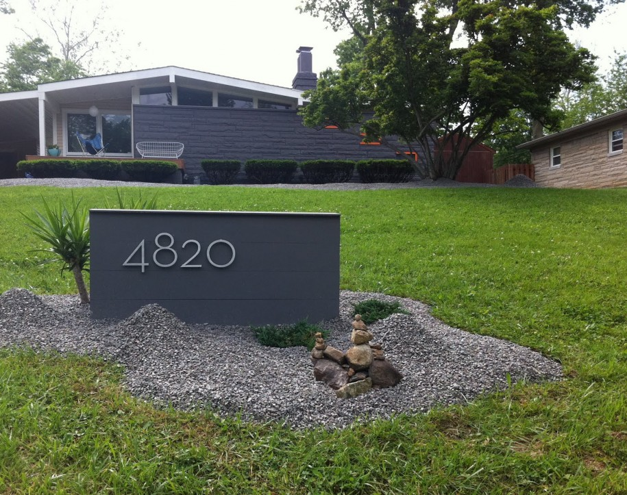 Modern mail box designs and materials homesfeed for House number designs