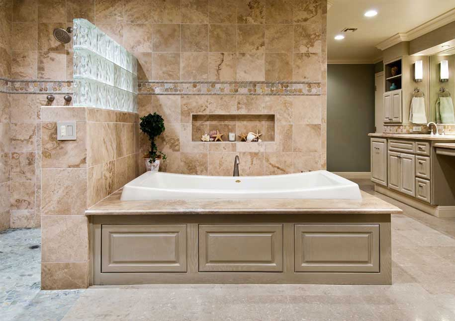 Transform your ordinary bathroom to a luxury bathroom with a master bath remodel homesfeed Bathroom remodel with walk in tub