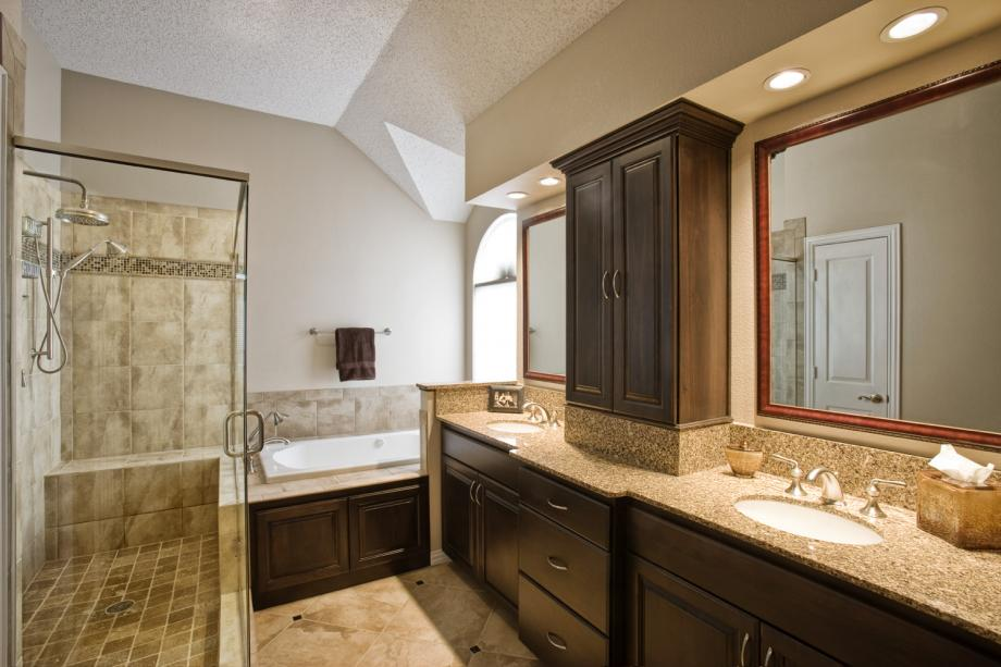 Get an excellent and a luxurious bathroom outlook by for Master bath vanities pictures