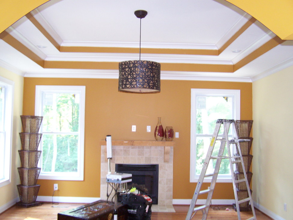 interior exterior painting with fresh paint colors plus glass windows