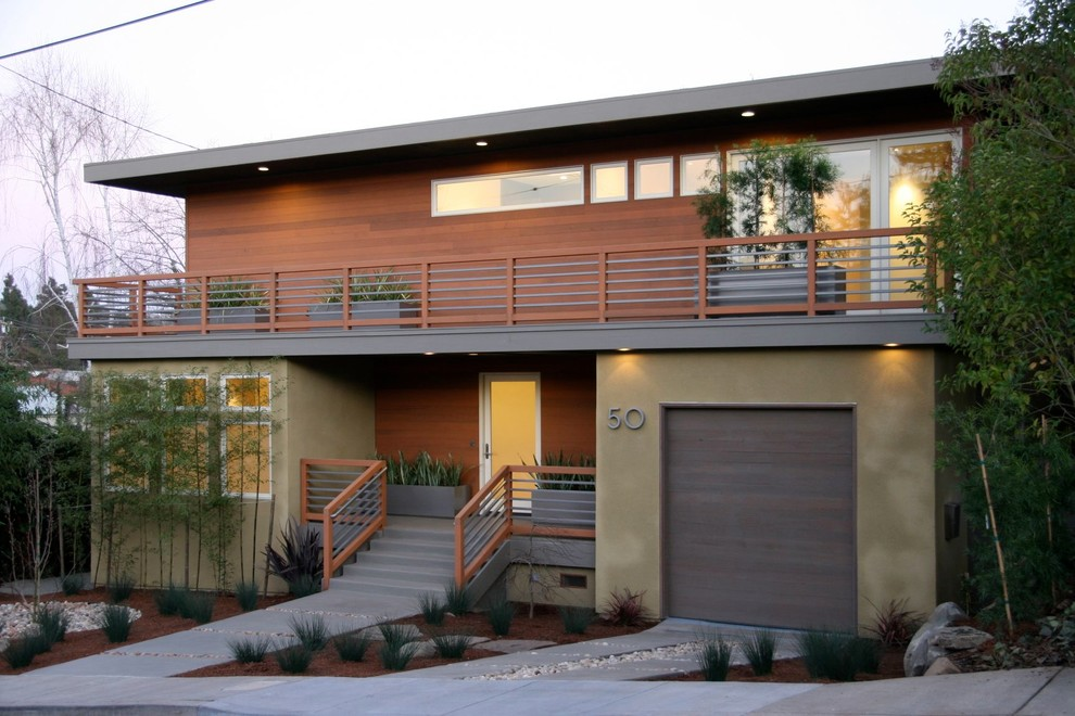 Impressive mid century modern garage doors the perfect for Mid century modern home design plans
