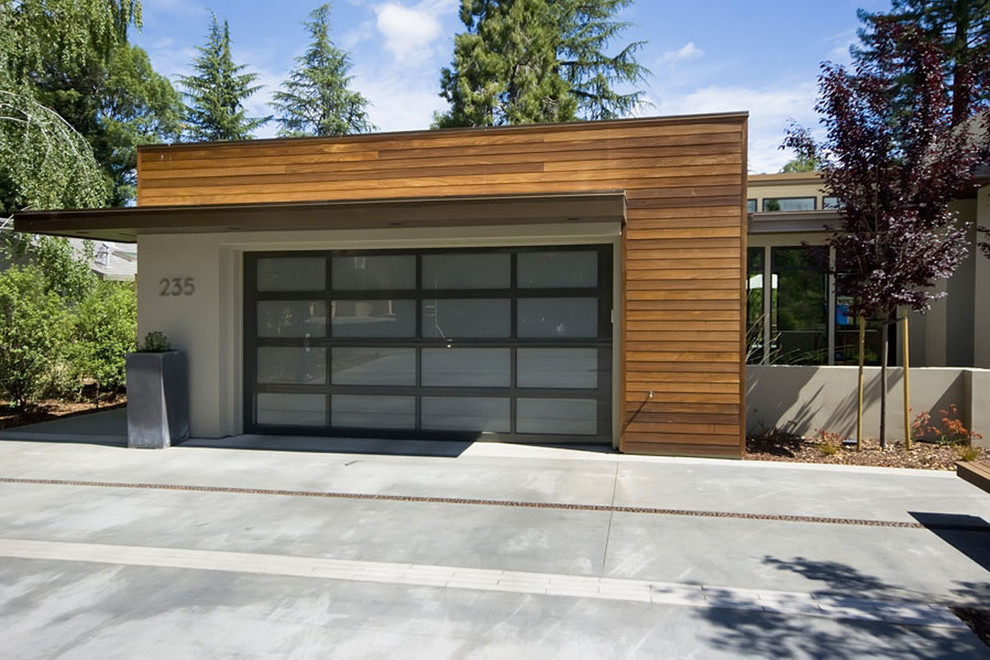 Garage modern  Impressive Mid century Modern Garage Doors : The Perfect ...