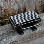 mini Hibachi grill with metal heat for outdoor use
