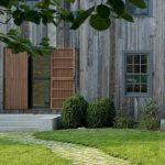 modern Dutch door at entrance