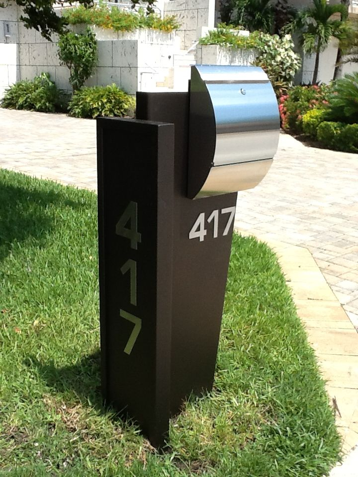 modern mail box designs and materials homesfeed