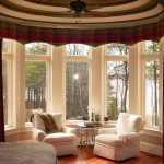 modern-cool-attractive-nice-amazing-drapes-for-bay-window-with-dark-simple-cloth-concept-for-modern-homes-decoration-with-big-window