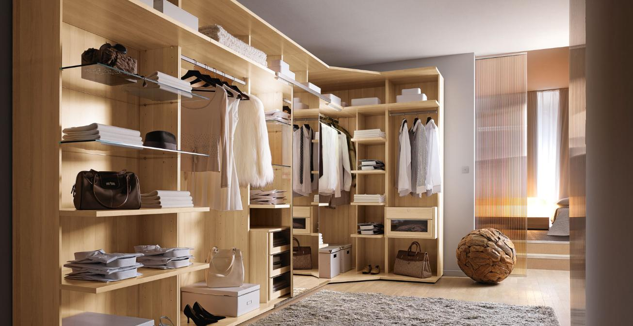 Modern Custom Closets Nyc With Wood And Glass Material And Bags Wardrobe  Shoes Storage And Round