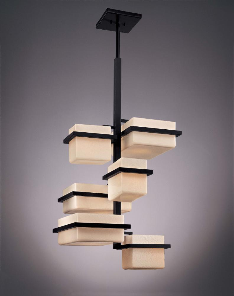 stylish george kovacs lighting that will make your room appear  - modern george kovacs lighting foyer with six chandeliers from kimonocollections