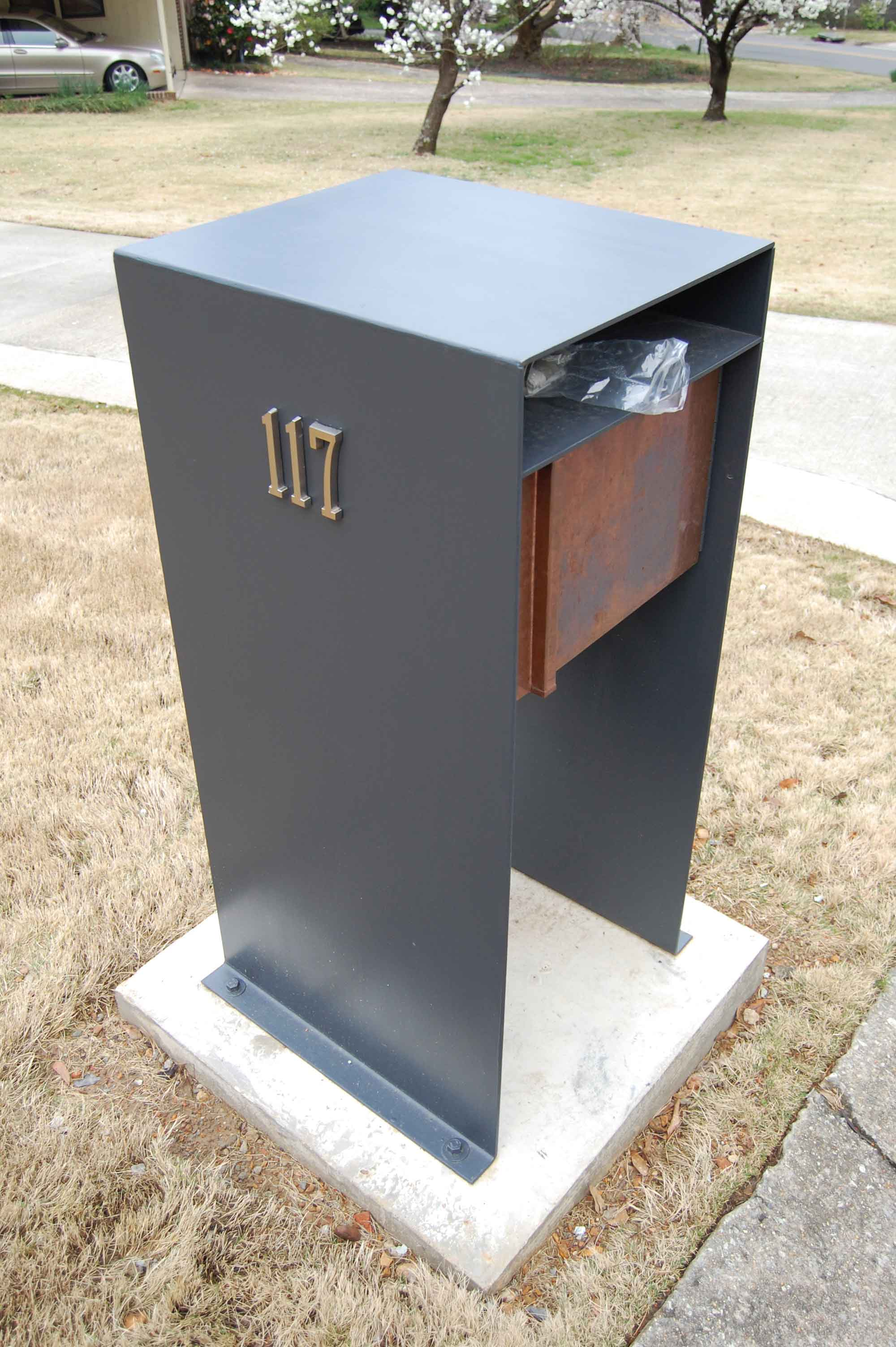 stylish post modern mail box invites more letters in