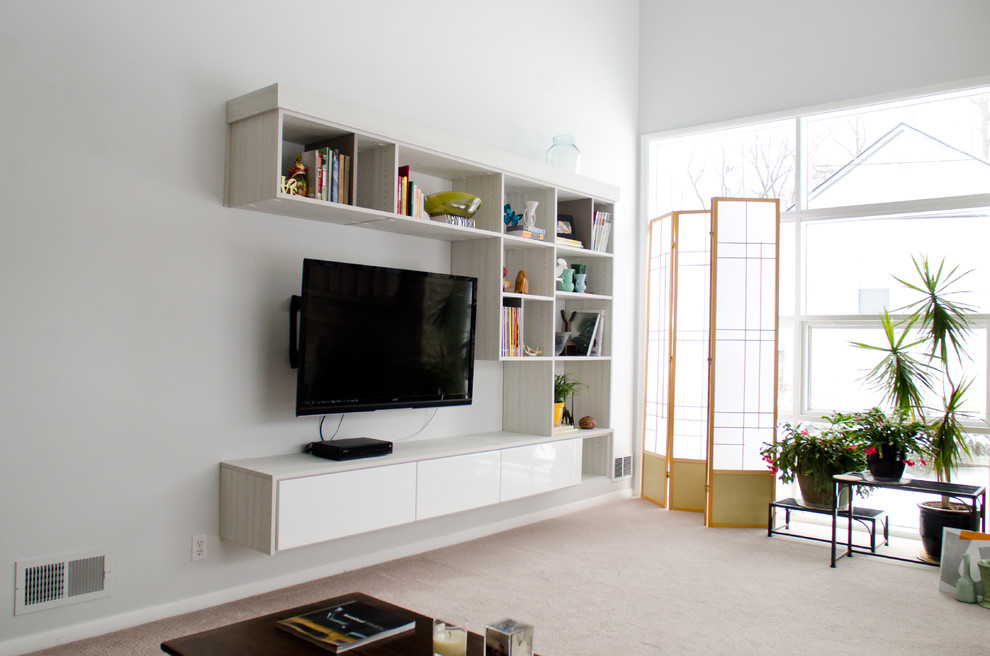 Entertainment center contemporary entertainment centers and tv stands - Floating Media Center For Creating The Modernity Homesfeed