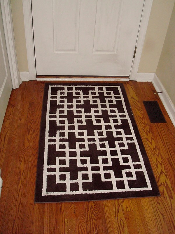 Black Foyer Rug : Elegant entryway rugs design for your home decoration