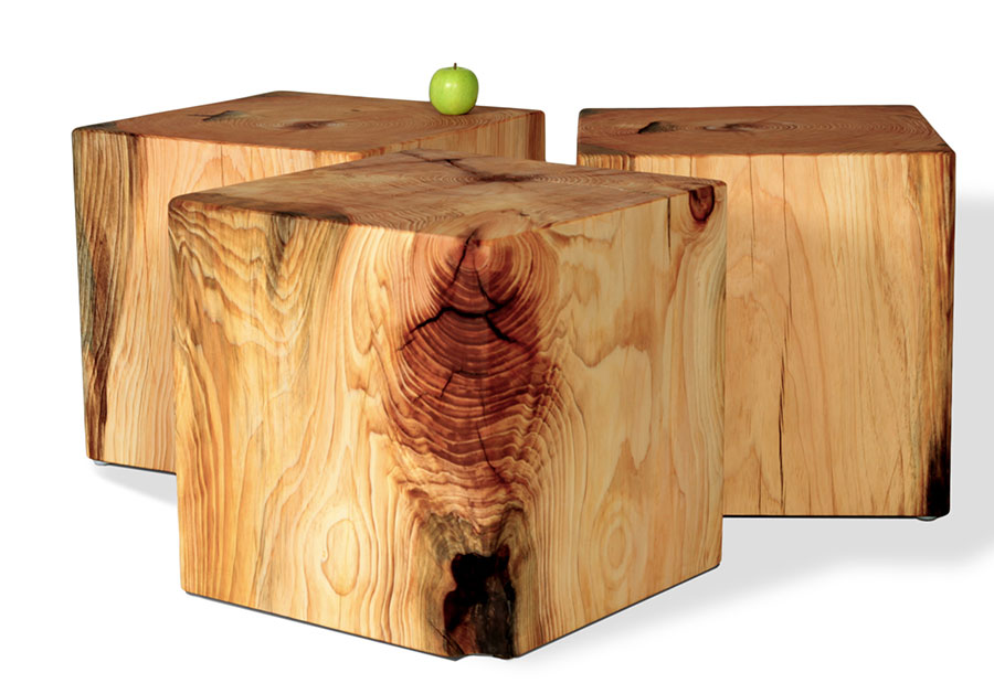 Tree Side Table ~ Natural tree stump side table brings nature fragment into
