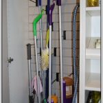 opened home cleaning tools