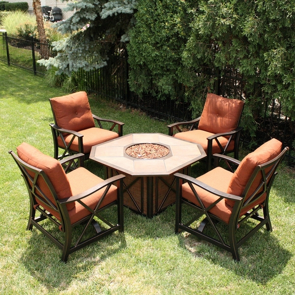 Patio Furniture With Fire Pit Integrated Into A Table