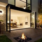 Patio Underground Fire Pit In Square Shape