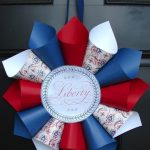 patriotic cone wreath made by DIY