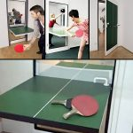ping pong door that is functioned as ping pong table