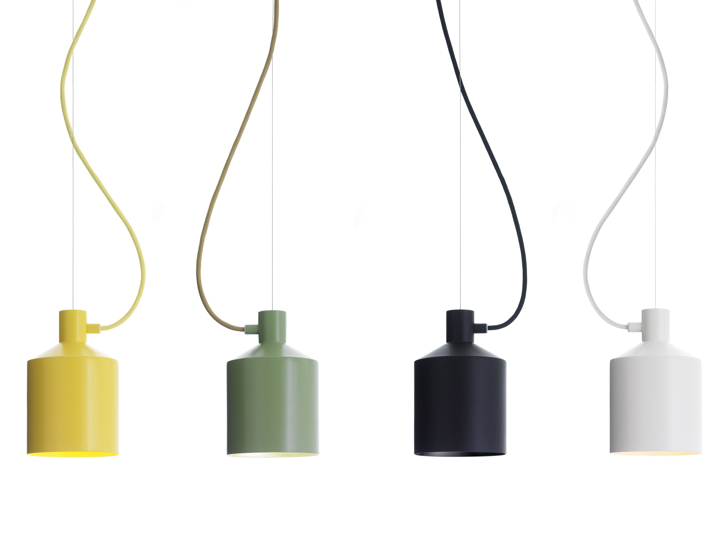 Glass insulator pendant light kit feed - Playful Colored Pendant Light Plug In With Black Grey Yellow And White Tone With Colorful Cable