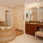 pretty stripped bench feats with deluxe bathtub and contemporary powder room decorates best bathroom remodels