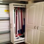 pull out wood broom closet