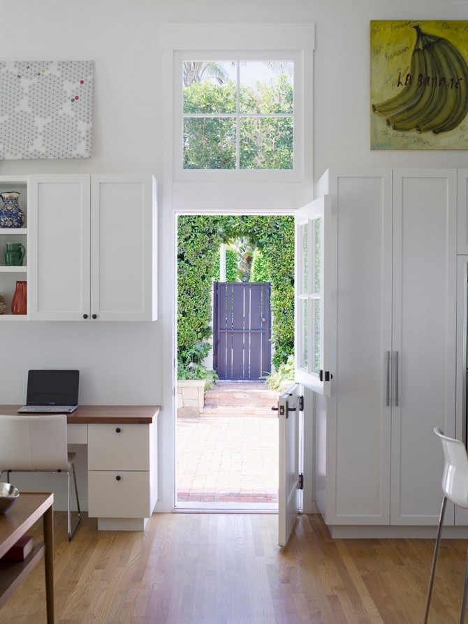 Pure White Modern Dutch Door As Entrance