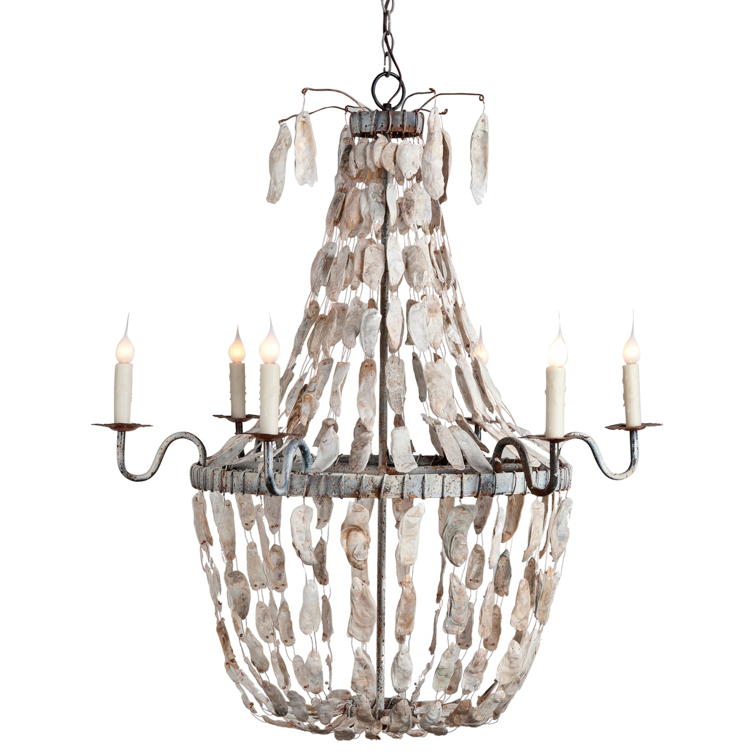 Oyster Shell Chandelier Ideas