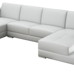 pure white sectional furniture with double chaise