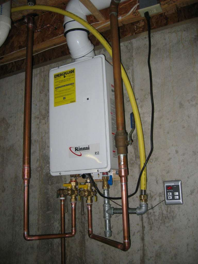 how do you hook up a tankless hot water heater
