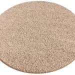 round light brown carpet tiling by Joss and Main