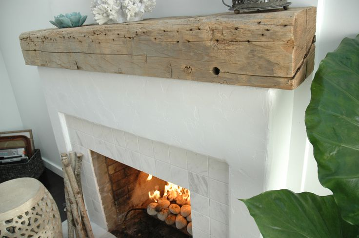 Driftwood Mantle Steals Rustic Appeal from the Past and Wraps It ...