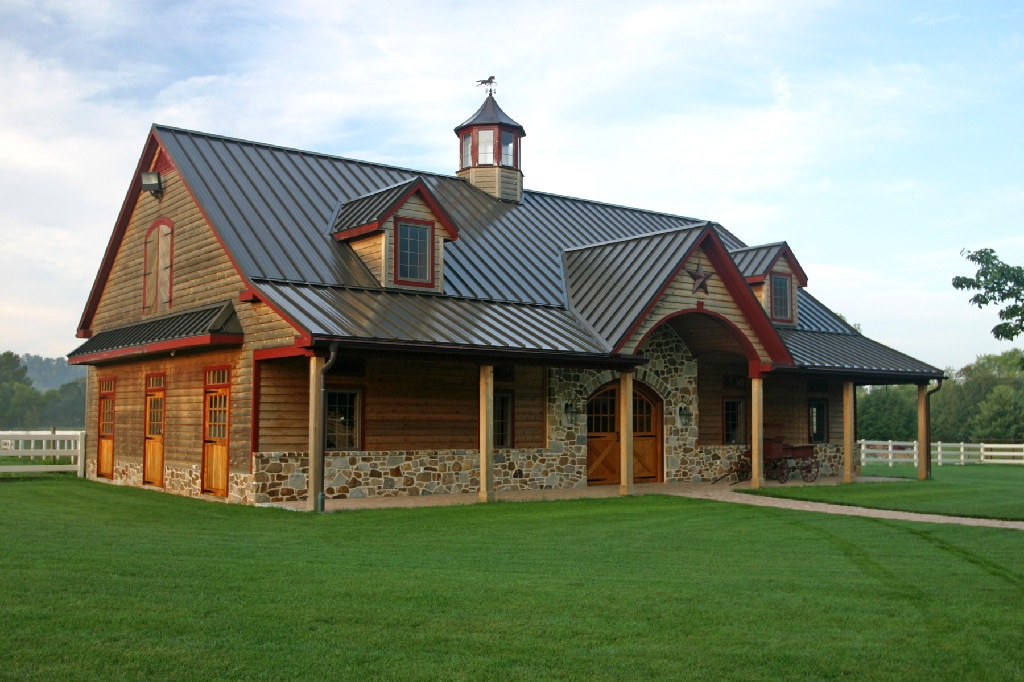 Pole barn house designs the escape from popular modern for Two story pole barn homes
