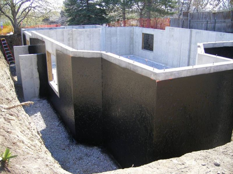 Protect your basement from water flooding and leaking with - Sealing exterior cinder block walls ...