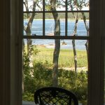 shut down cottage window seen from inside
