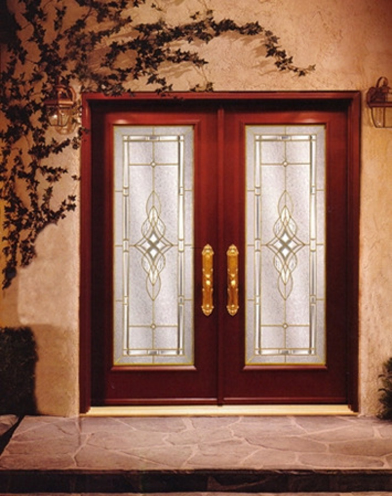 Make your guests and friends impress with stunning front for Main entrance double door design
