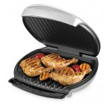 simple modern home hibachi grill design with double pan covereaged for easy carriage