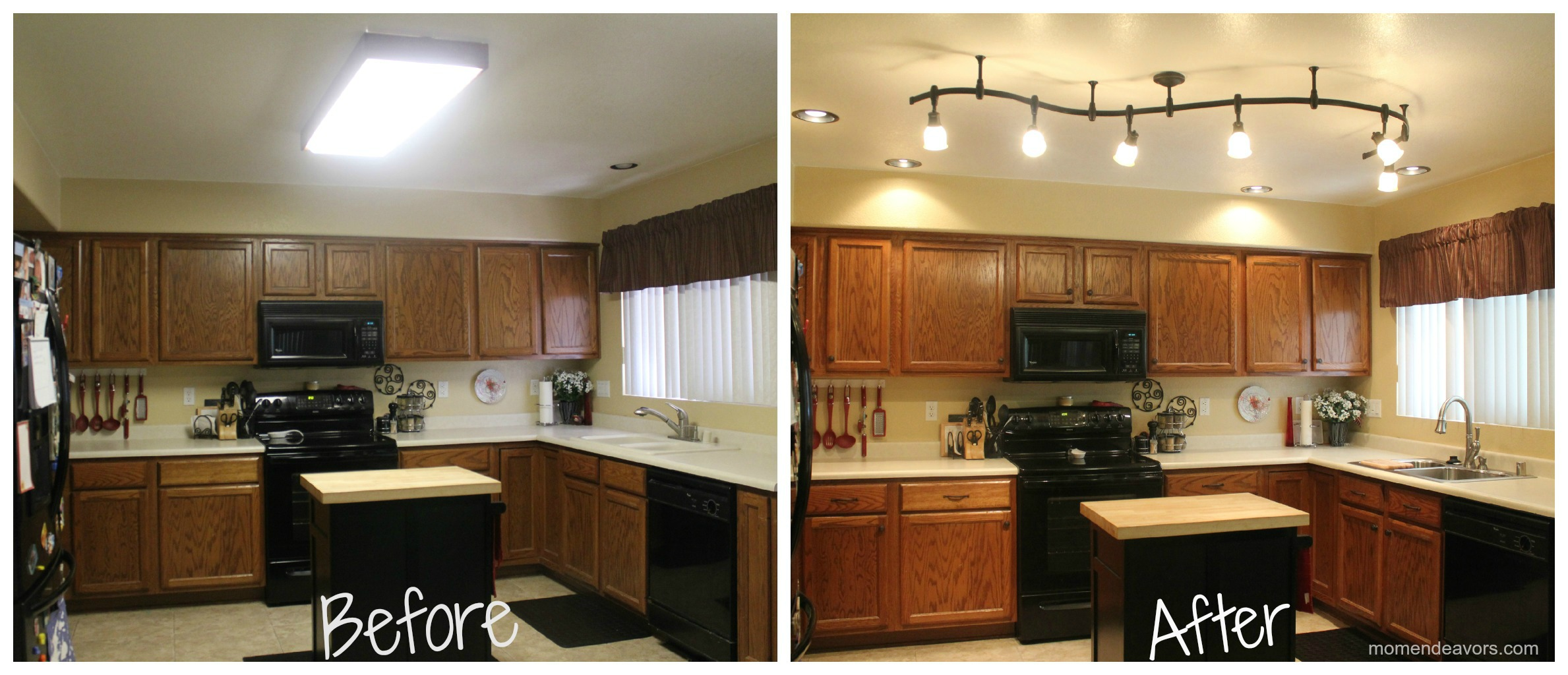 Small kitchen remodel before and after for stunning and for Kitchen renovation