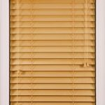 simple wood window blind
