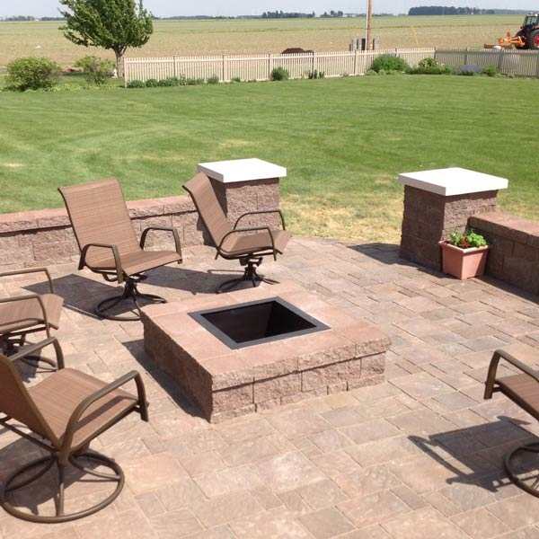 Square Shaped Underground Fire Pit For Outdoor Patio Elegant Patio Furniture