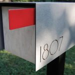 standing metal finishing modern mail box