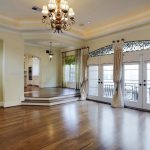 stunning window treatments houston with curtain and draperies in ballroom with wooden floor and luxury chandelier