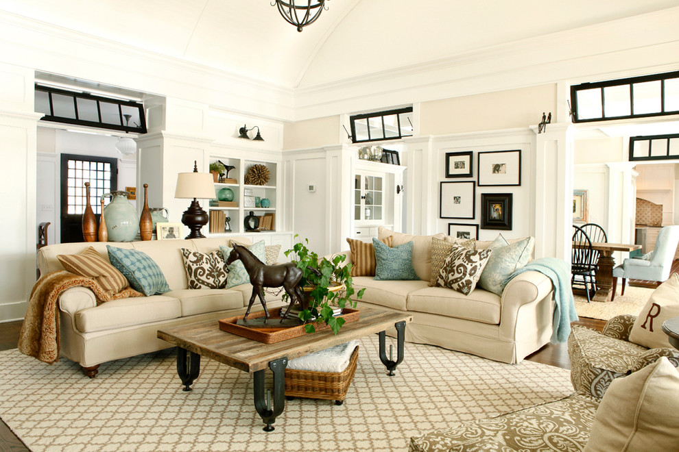 Sweet Cream Luxurious Living Room Design With Rustic Wooden Coffee Table  Upon Joss Main Rug Beneath Part 67
