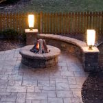 traditional-adorable-wonderful-coolest-patio-with-fire-pit-with-two-typical-lamps-concept-with-small-pit-and-small-seats-design