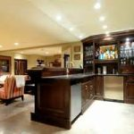traditional living room feats with white interior paint color ideas and glossy basement wet bar