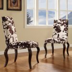 two series of cowhide chairs as dining furniture