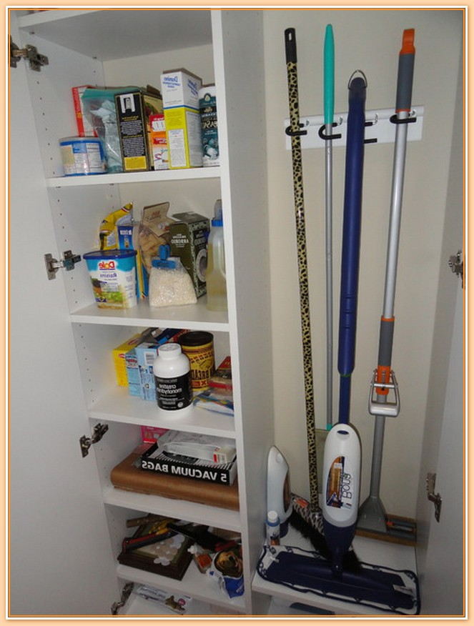Two Sided Rooms Of A Closet That One Room Is For Cleaning Tools And One More