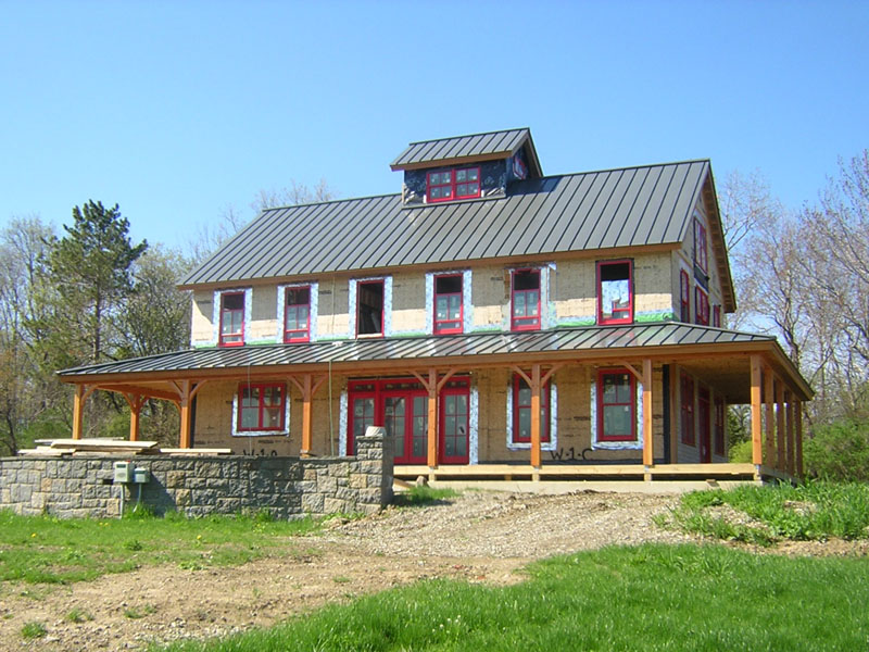 Brand new pole barn house for appealing and warm retreat for Two story metal building homes