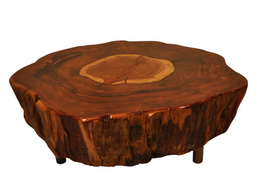 Natural Tree Stump Side Table Brings Nature Fragment Into Your Interior Homesfeed
