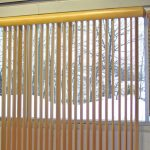 vertical window blinds for medium high glass window