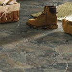 vinyl floors idea for basement in natural stone like